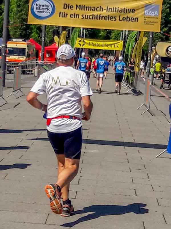 Läufer auf der Zielgeraden